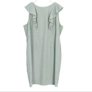 ASOS Curve Plus Size Green Midi Bodycon Dress